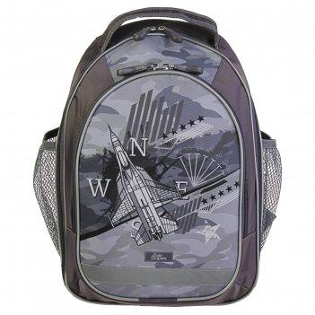 Рюкзак школьный с эргономичной спинкой, calligrata, 37 х 27 х 16, «самолет