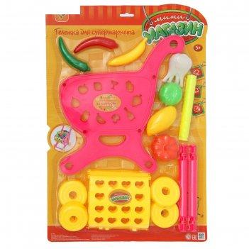 Игровой набор продуктовая тележка, с продуктами