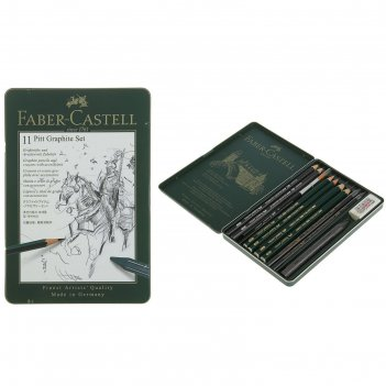 Карандаши художественный набор faber-castell pitt monochrome 11 шт. в мета