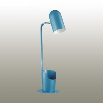 Настольная лампа ejen 1x40вт e27 синий 18,2x15x50см
