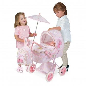 Коляска для куклы с рюкзаком и зонтиком, 60 см