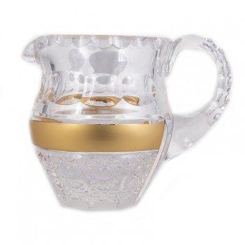 Молочник cнежинка с золотом 2
