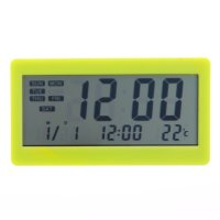 Термометр-часы электронный с гигрометром, будильник (dc208) от батарейки,