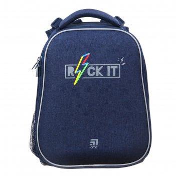 Рюкзак каркасный kite 531, 38 х 29 х 16, для мальчика, rock it, синий