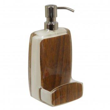 Дозатор кухонный для жидкого мыла ashley, цвет коричневый