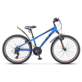 Велосипед 24 stels navigator-400 v f010, цвет синий/красный, размер 12