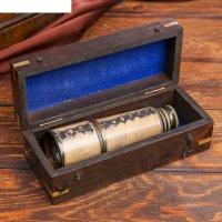 Подзорная труба с 8-ми кратным увеличением, в деревянной шкатулке, сувенир