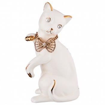 Статуэтка кошка с бантом 13*10см, высота=27см (кор=9шт.)