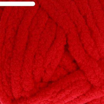 Пряжа adelia dolly 100% полиэстер 40м/100гр (09 красный)