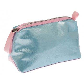 Косметичка dewal beauty серия морской бриз, голубая с розовым 23х15х10см