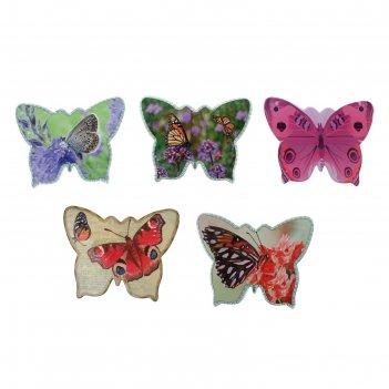 Подставка под горячее 13,5х22,5 см бабочки, микс