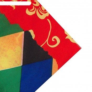 Ткань атлас цветные ромбы арлекин