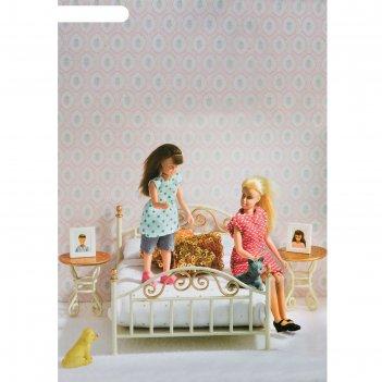 Набор мебели для кукольного домика смоланд «спальня в античном стиле»