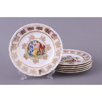 Набор тарелок из 6 шт. мадонна диаметр=21 см