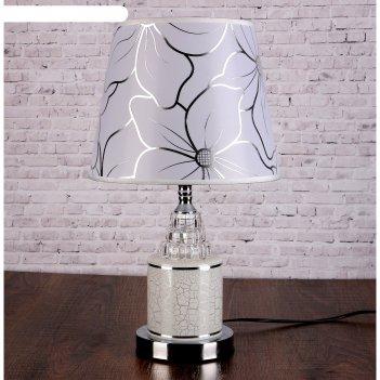 Лампа настольная кракелюр е27 220в низ с подсветкой 43х25х25 см