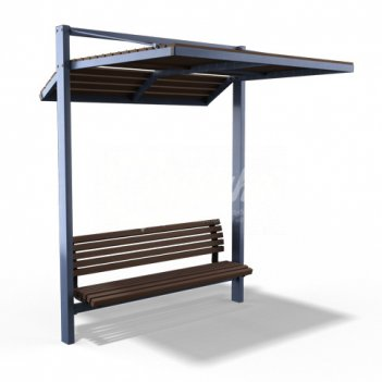 Навес со скамейкой «модерн уни»