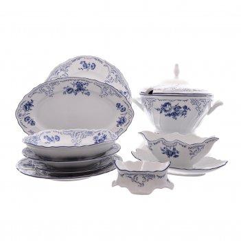 Столовый сервиз на 6 персон bernadotte синие розы 27 предметов
