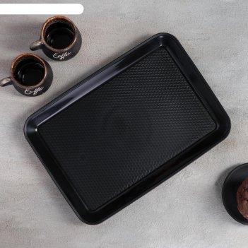 Поднос 30x21 см, цвет чёрный