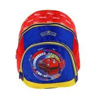 Рюкзак дошкольный, мягкий весёлые паровозики из чаггингтона 35*27*16см