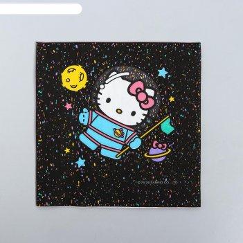 Салфетки бумажные hello kitty, с днем рождения!, 33х33, 20 шт