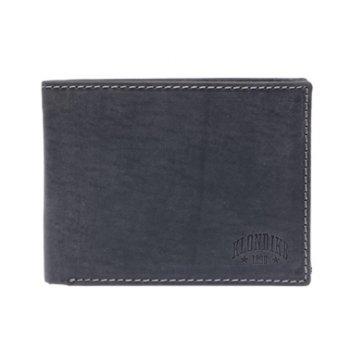 Бумажник klondike yukon, натуральная кожа в черном цвете, 12,5 х 3 х 9,5 с