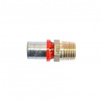 Муфта-пресс tdm brass 1630 1220, 1/2 х 20 мм, наружная резьба, латунь