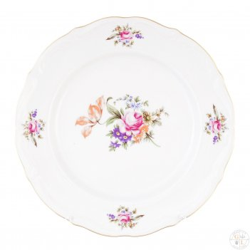 Набор тарелок плоских 25 см repast мейсенский букет( 6 шт)