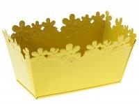 Кашпо оцинкованное цветочный край 9*17,5 см, желтое