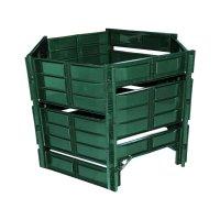 Ограждение для компостной кучи 810 л компостер, цвет зеленый