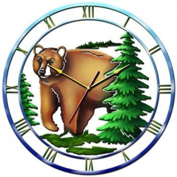 Часы настенные tiarella медведь
