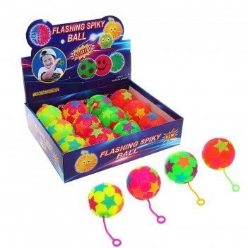 Мяч световой звёздочки с пищалкой, цвета микс