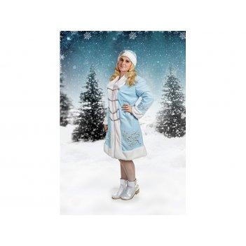Костюм новогодний с вышивкой снегурочка халат,ша...
