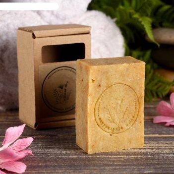 Натуральное крафтовое травяное мыло бессмертник в коробке, добропаровъ, 10