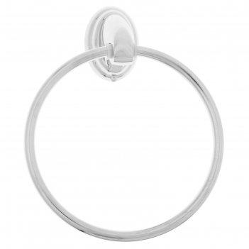 Держатель для полотенец одинарный, круг accoona а11108, цвет хром