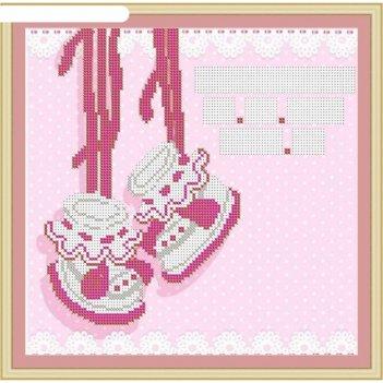 Основа для вышивания с нанесённым рисунком «метрика для девочки №3»