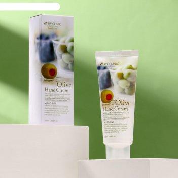 3w clinic увлажняющий крем для рук с экстрактом оливы moisturizing olive h