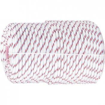 Фал плетеный полипропиленовый с сердечником, 16-прядный, 6 мм, бухта 100 м