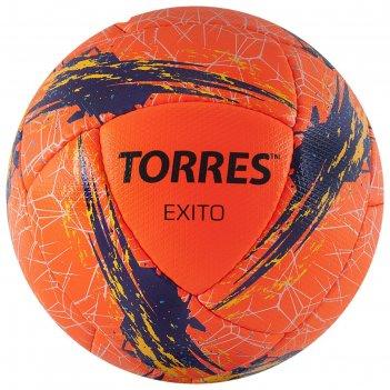 Мяч футбольный torres exito, размер 5, 16 панелей, pu, цвет оранжевый