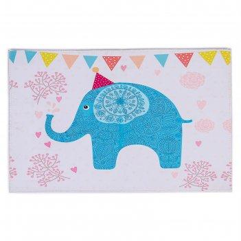 Коврик для дома «слоник», 40x69 см