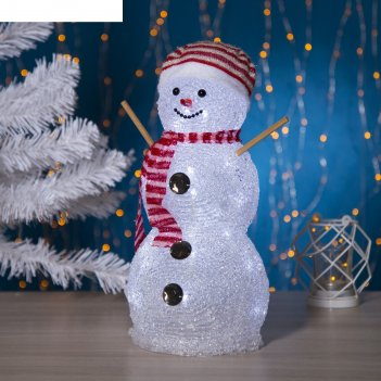 Фигура акрил. снеговик руки-палки 33х16 см, 28 led, 220v белый