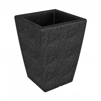 Кашпо flox p 680, чёрный гранит