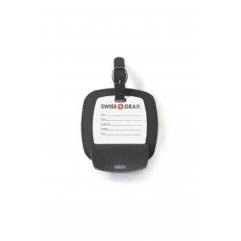 Бирка для багажа swissgear, черная, пвх, 10,5 x 0,4 x 10,5 см