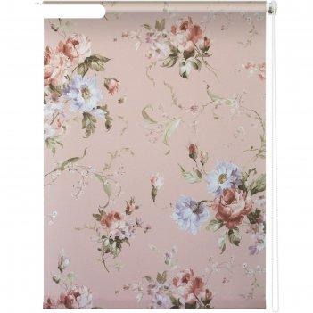 Рулонная штора «розарий», 100х175 см, цвет розовый