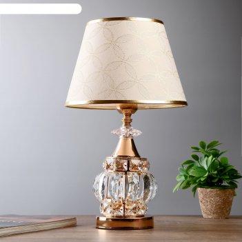Лампа настольная лаодика 1х40вт е27 золото 26х26х42 см.