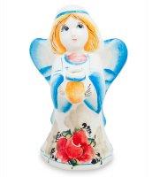 Гл-110 подсвечник ангел цв. (гжельский фарфор)