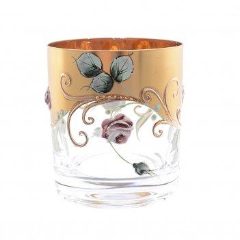 Набор стаканов для виски bohemia алые розы 280 мл