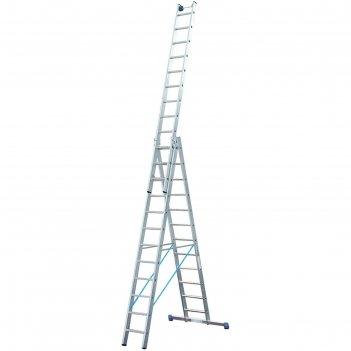 Лестница krause stabilo, трехсекционная, с траверсой, с доп. функцией, 12