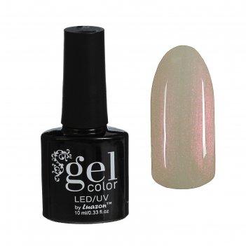 Гель-лак для ногтей трёхфазный led/uv, 10мл, цвет в2-075 бело-розовый перл