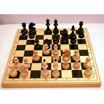 Шахматы гроссмейстерские фигуры бук, поле фанера, 42х42см