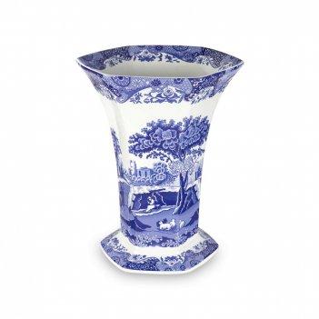 Ваза для цветов, высота: 27 см, материал: фаянс, цвет: декор, серия голуба